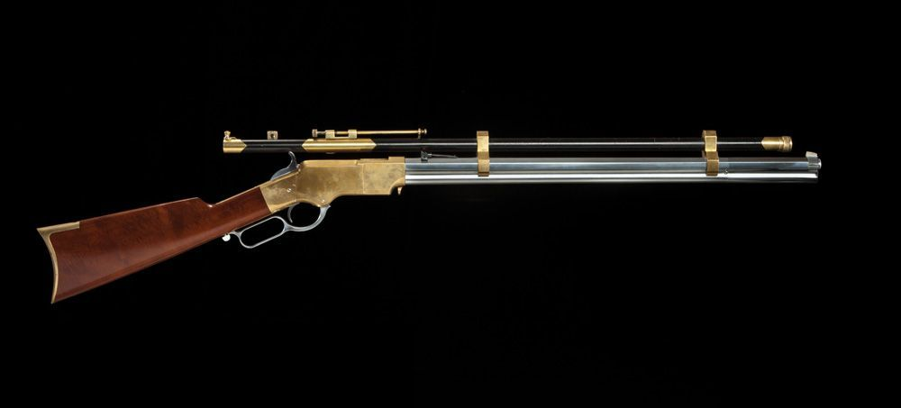 Scoped Henry Model 1860 Lever-Action Rifle used by Mussetta