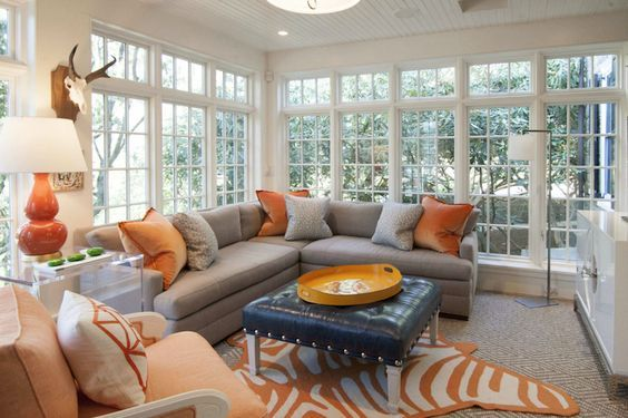 A stunning combination of orange and grey! Create your own special