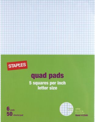 Graph Pads 8 5 X 11 Graph White 50 Sheets Pad 6 Pads Pack 35706 18607stp Graphing Pad Lettering