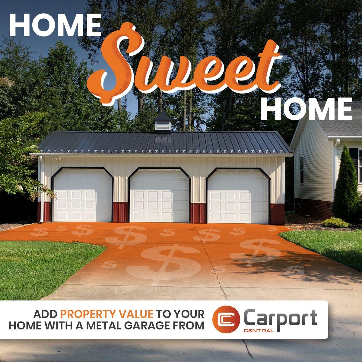 Add Property Value With A Detached Garage Metal Garages Steel Buildings Detached Garage