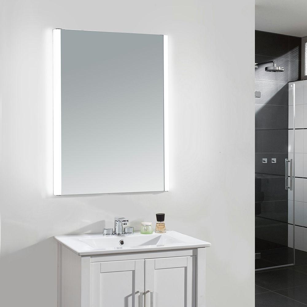 Ove Decors 24 In W X 31 In H Frameless Rectangular Led Light Bathroom Vanity Mirror In Glass Villon The Home Depot Large Bathroom Mirrors Bathroom Mirror Led Mirror