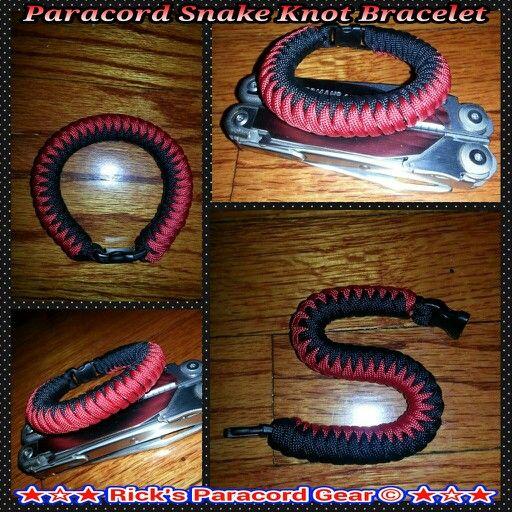 paracord snake knot bracelet wclasp paracord