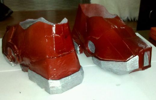 the boots painted #IronMan #costume #DIY & the boots painted #IronMan #costume #DIY | Build Your Own Halloween ...