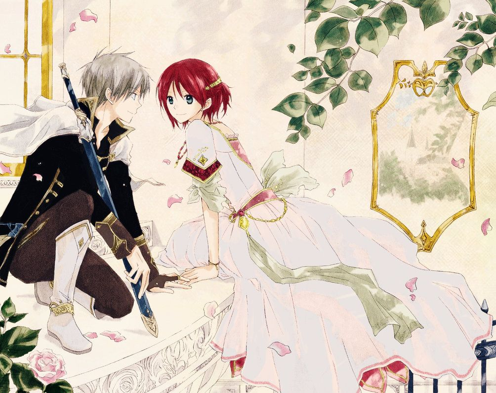 Zen+Shirayuki::On the Balcony by ~angel-cesia  Akagami no shirayukihime is AWSOME! ^-^ and this picture is sooo well colored! :)
