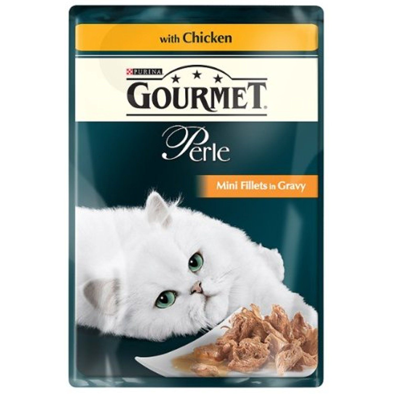 Purina Gourmet Perle Mini Fillets in Gravy with Chicken 24 x 85g ~ To have more info could be found at the image url. (This is an affiliate link and I receive a commission for the sales)