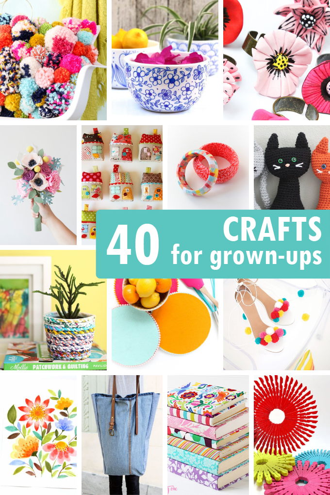 40 ADULT CRAFTS including jewelry, accessories, home decor