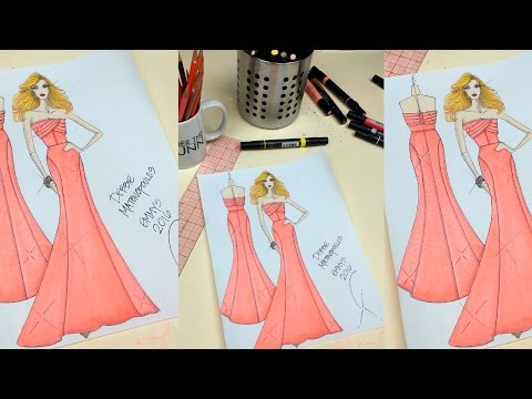 ingredients of a fashion sketch how to draw a strapless
