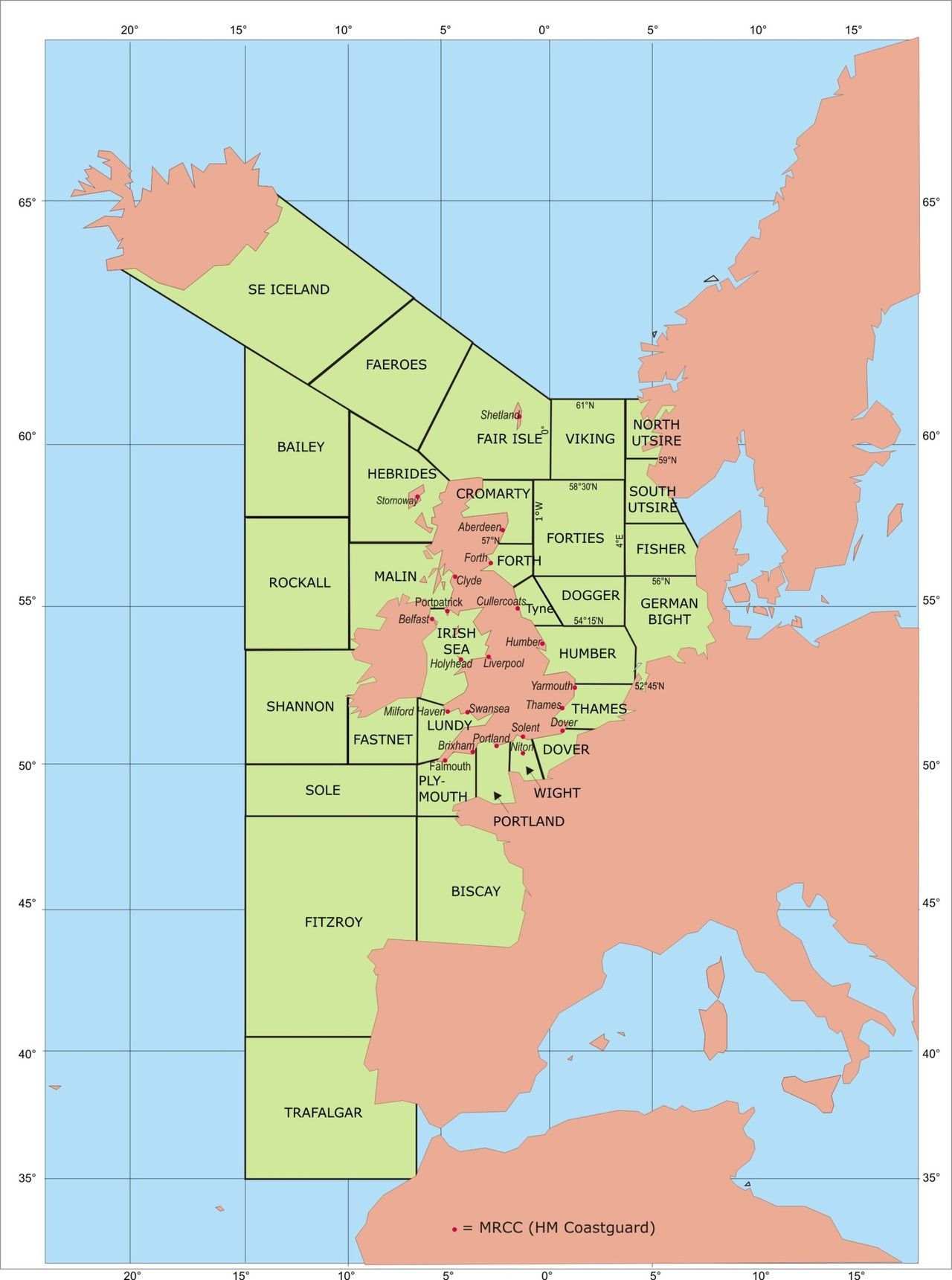 Shipping Forecast Map UK Shipping Forecast areas | Art in 2019 | Map, Area map, European map