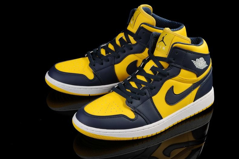 Air Jordan 1 Navy Blue Yellow Air Jordan Shoes Michael Jordan Shoes Air Jordans Nike Air Jordan Shoes Air Jordan Shoes