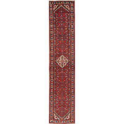 Bloomsbury Market Balfor Vintage Red Geometric 12 Ft Runner Lilian Persian Wool Rug 12 4 X2 6 Area Rugs Rugs Red Area Rug