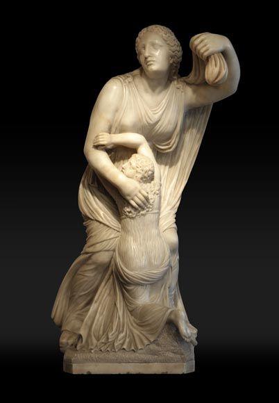 Sculpture Of Niobe In Alabaster After An Original Greek Statue