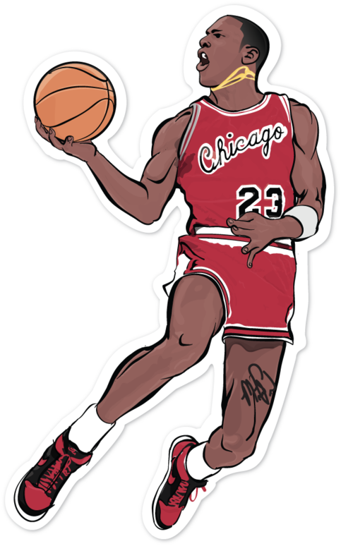 A Single 4 Sticker Of Micheal Jordan Stick It To Your Laptop Windows Tablet Or Anywhere Created Micheal Jordan Kobe Bryant Poster Black And Grey Tattoos