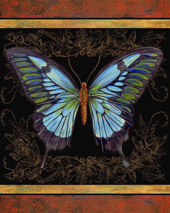 Vintazh Butterfly Painting Art Butterfly Wallpaper