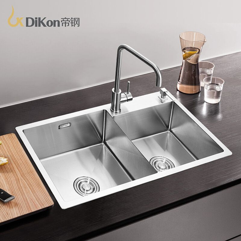 Dikon Kitchen Sink Deluxe 304 Stainless Steel Above Counter Prepossessing Stainless Kitchen Sinks Decorating Inspiration