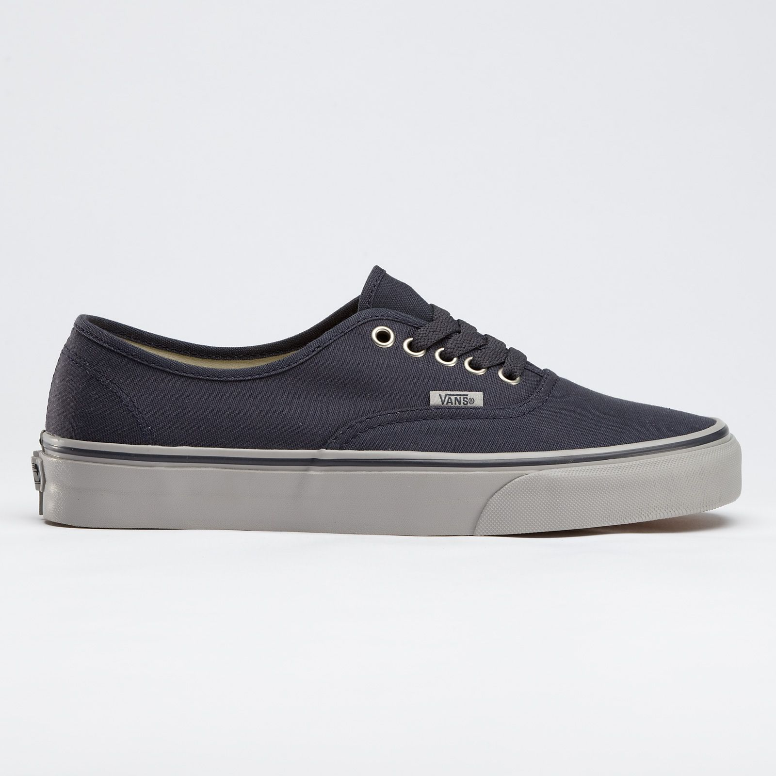 Canvas Authentic Vans in Ebony/Ice Gray. nice and neutral but not too boring