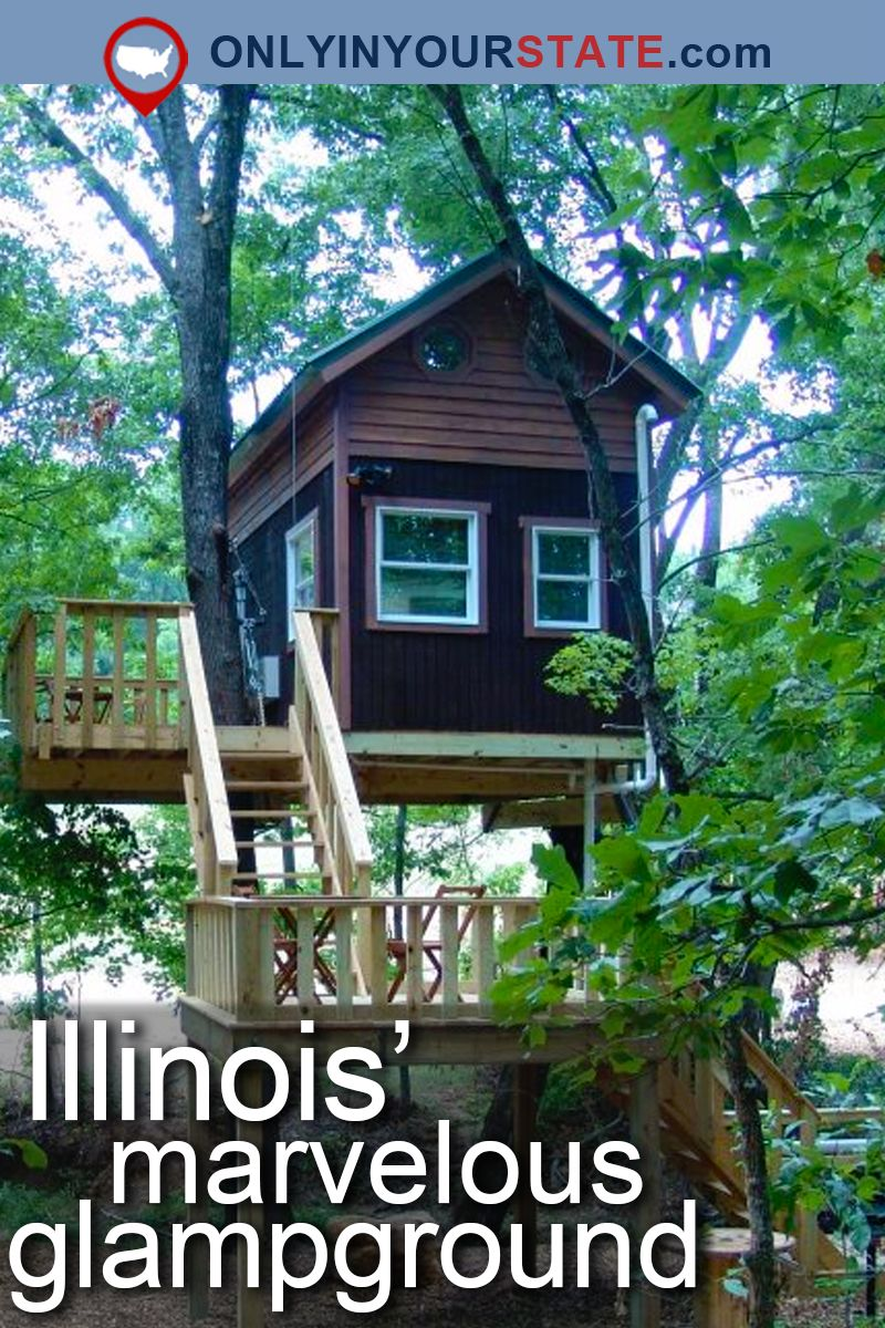 The Secluded Glampground In Illinois That Will Take You A Million Miles  Away From It All. Camping CabinsCamping ...