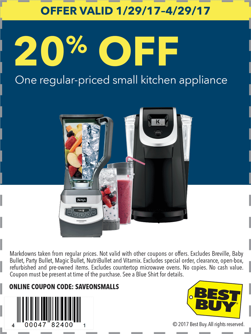 best buy kitchen appliances table rugs pinned january 29th 20 off a small appliance at bestbuy or online via promo code saveonsmalls thecouponsapp
