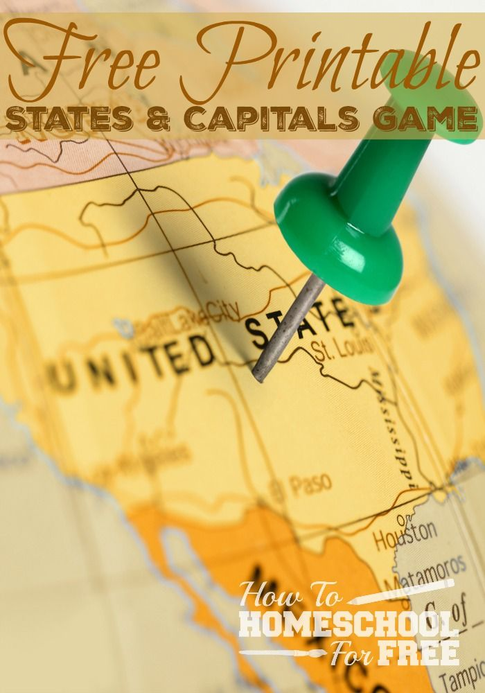 Help your kids memorize the states and capitals with this FREE