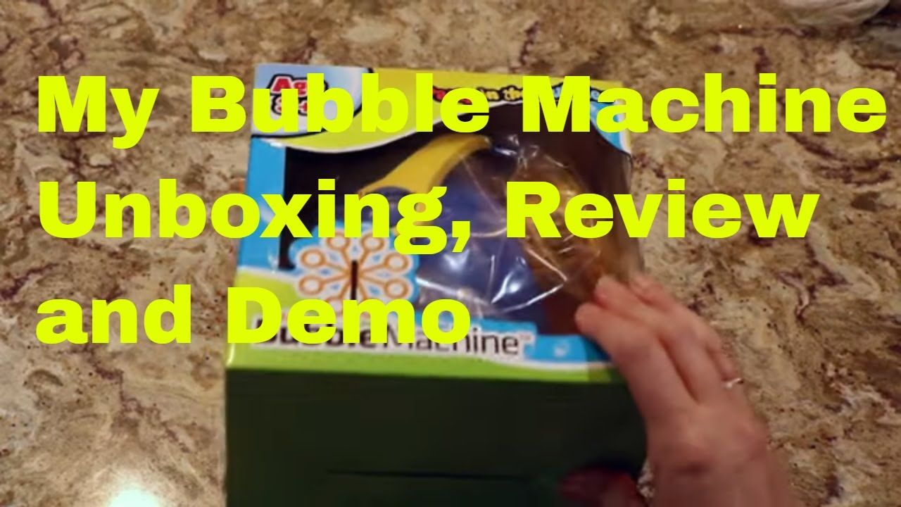 My Bubble Machine Demo Review 500 Bubbles Per Minute Toyreviews