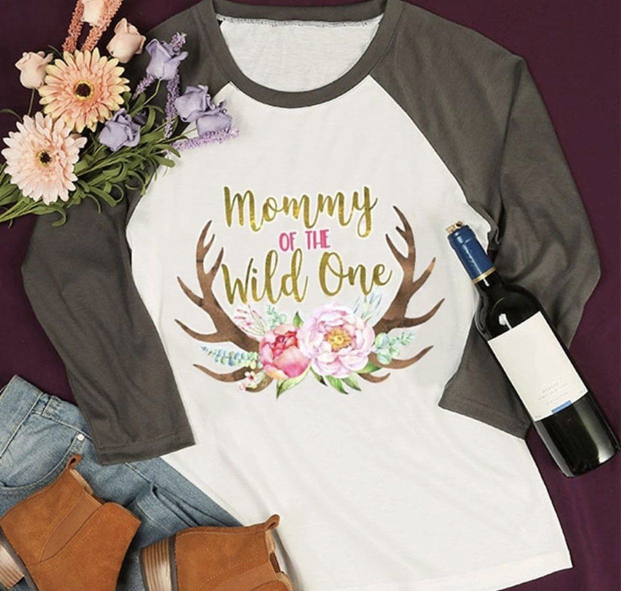 5736c5ab Women's Mommy of the Wild One Shirt First Birthday Tee Mom Party Top ...