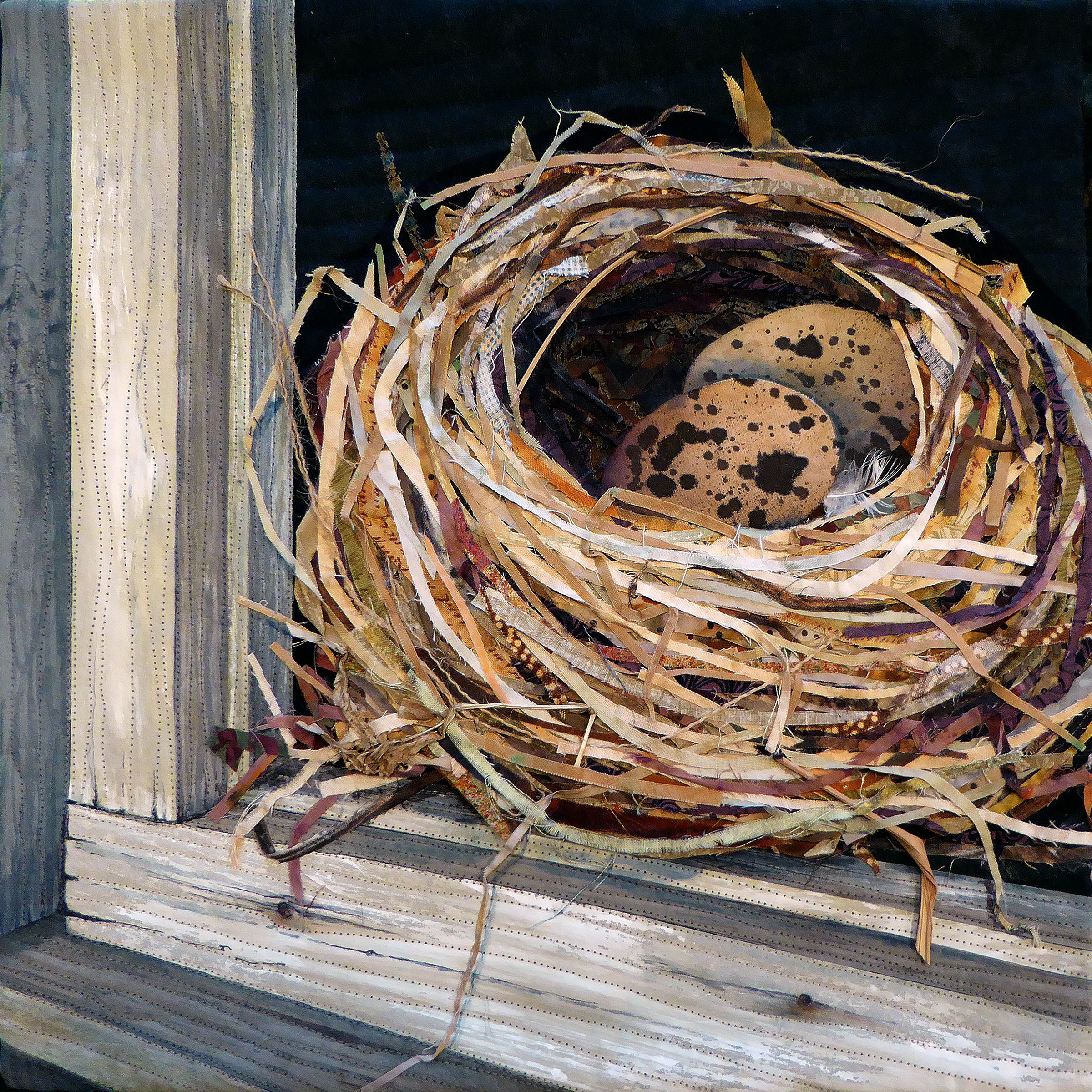 Nest Mini Art Quilt By Nancy Messier Landscape Quilts Art Quilts Animal Quilts