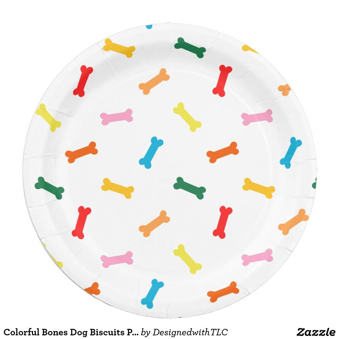 Colorful Bones Dog Biscuits Party Plates For Dogs  sc 1 st  Goldenacresdogs.com & Dog Paper Plates - Goldenacresdogs.com