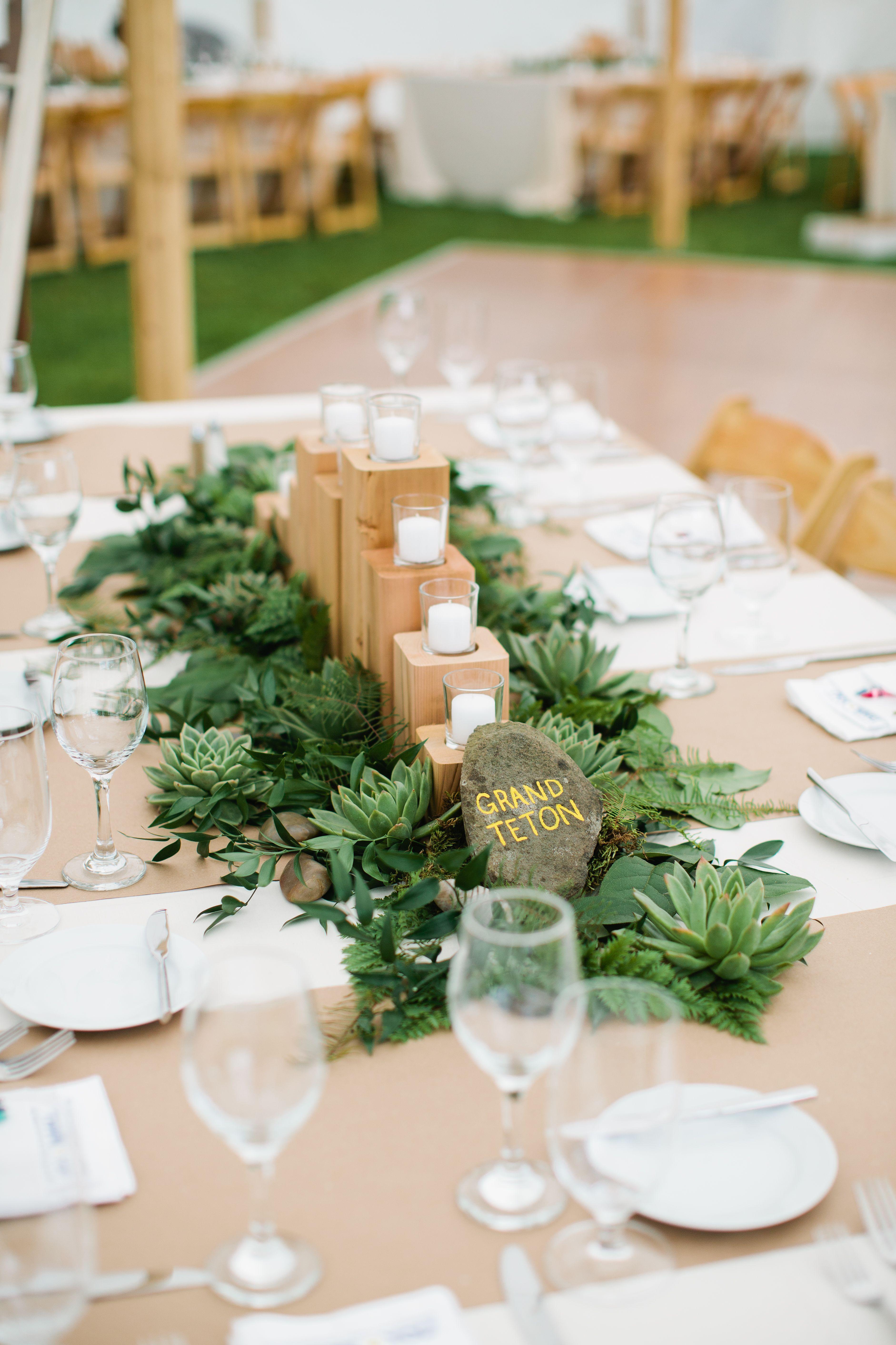Fern and succulent centerpieces weddingflowersdiygoodideas