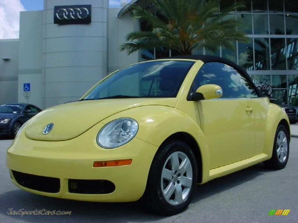 2007 volkswagen beetle convertible 2007 volkswagen new beetle 2 5 convertible in sunflower. Black Bedroom Furniture Sets. Home Design Ideas