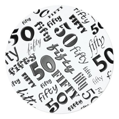 Black white 50th birthday party invitation 50th birthday party black white 50th birthday party invitation filmwisefo
