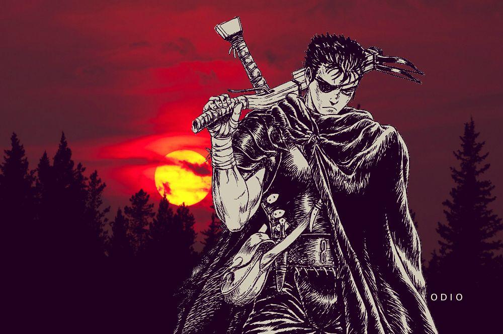 ベルセルク berserk guts manga anime japanese Aesthetic design by odio