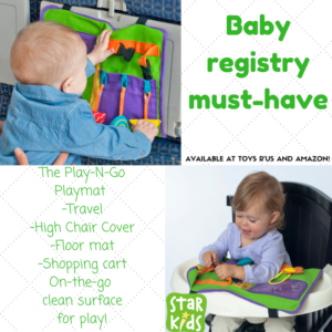 2017 Baby Registry Must Haves! The Play-N-Go is perfect for on the go play, snacking, and learning!