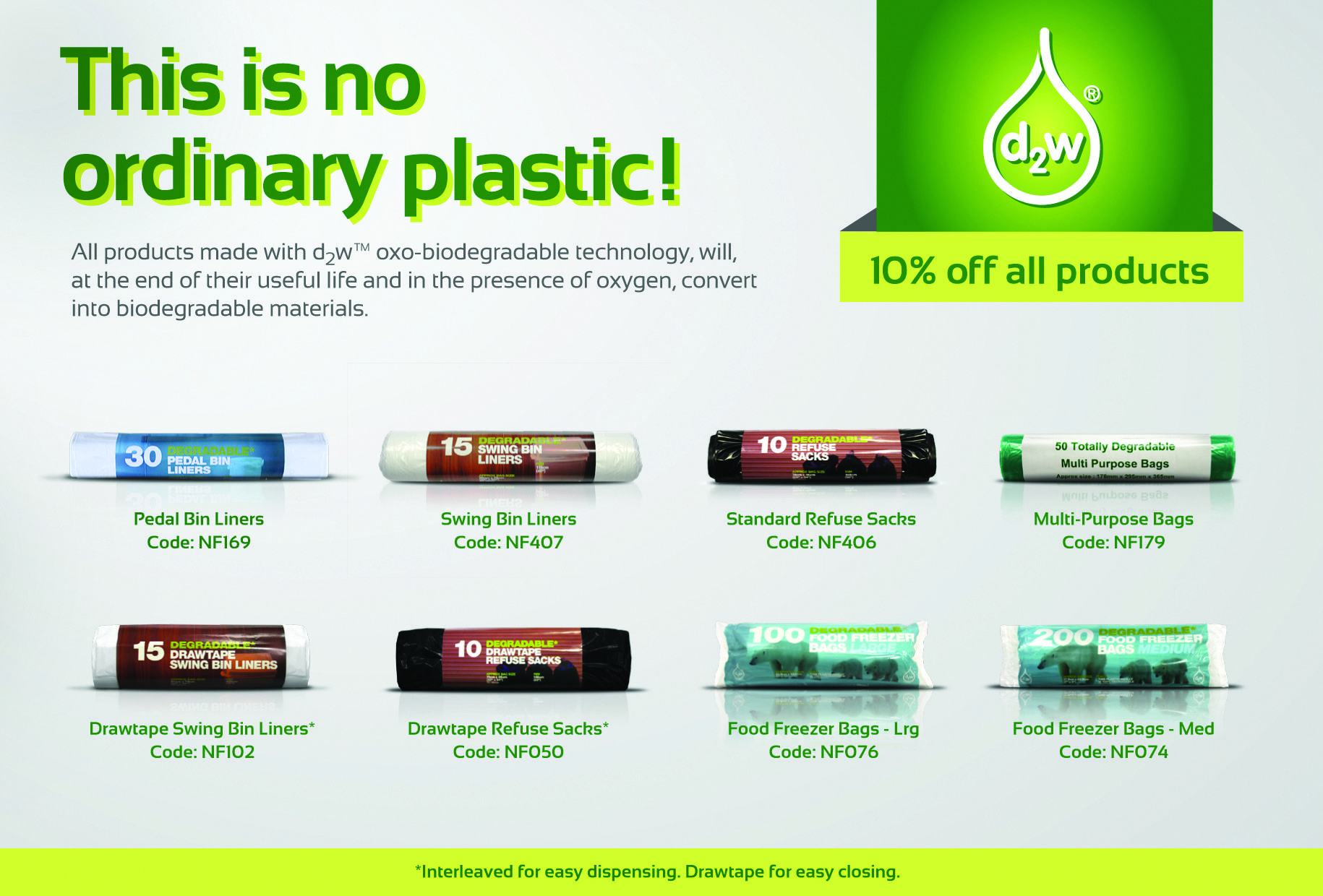 D2w Plastics All Made With Oxo Biodegradable Technology
