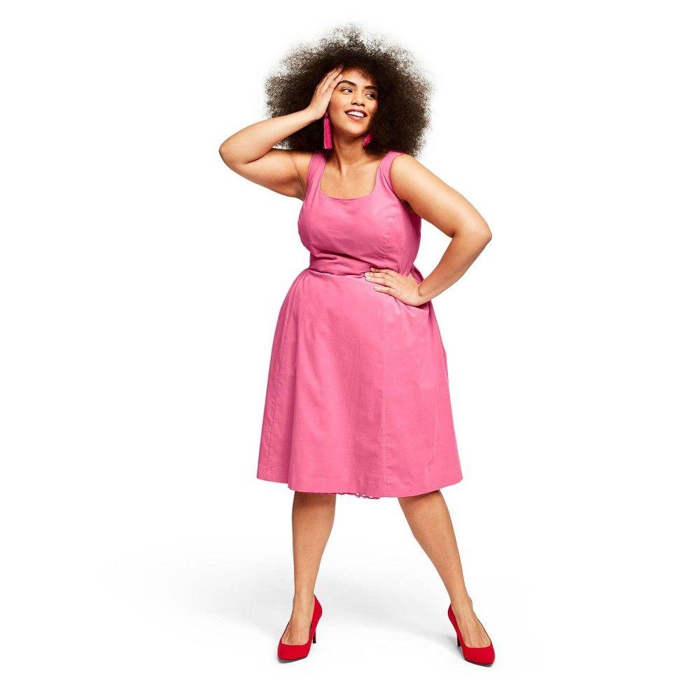 Women S Plus Size Sleeveless Square Neck Corduroy Dress Isaac Mizrahi For Target Pink 3x Target Corduroy Dress Dresses Sleeveless [ 1000 x 1000 Pixel ]