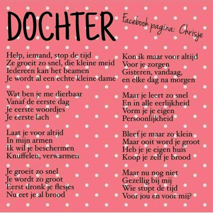 Magnifiek Dochter | Spreuken | Pinterest - Dochter, Mijn dochter en Dochter &QH68