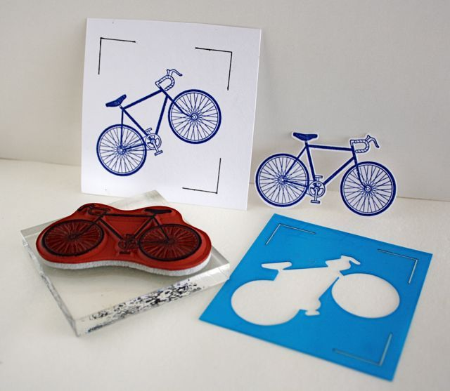Cutting a stamped image with a Silhouette Cameo.