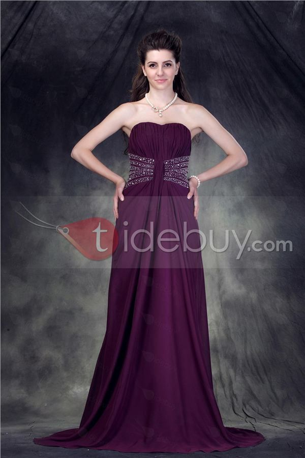 Astriz - Vestido de Prom Cintura Imperio con Escote Corazón con Cola ...