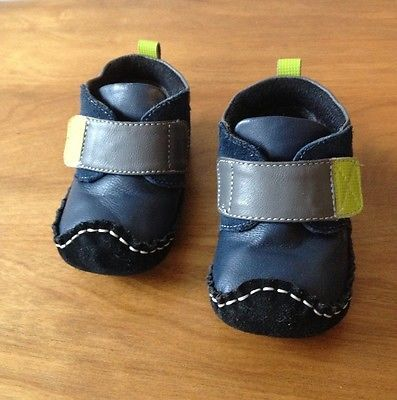 Smaller-By-See-Kai-Run-Leather-Suede-Boots-Blue-Gray-12-18-Months-Toddler-Baby