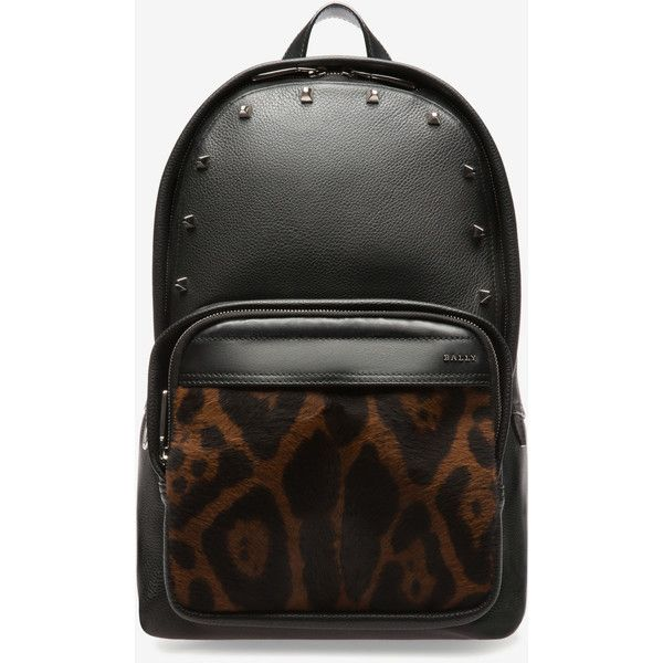 302342e780 Bally WOLFSON LARGE Women s bovine leather backpack in black ( 1