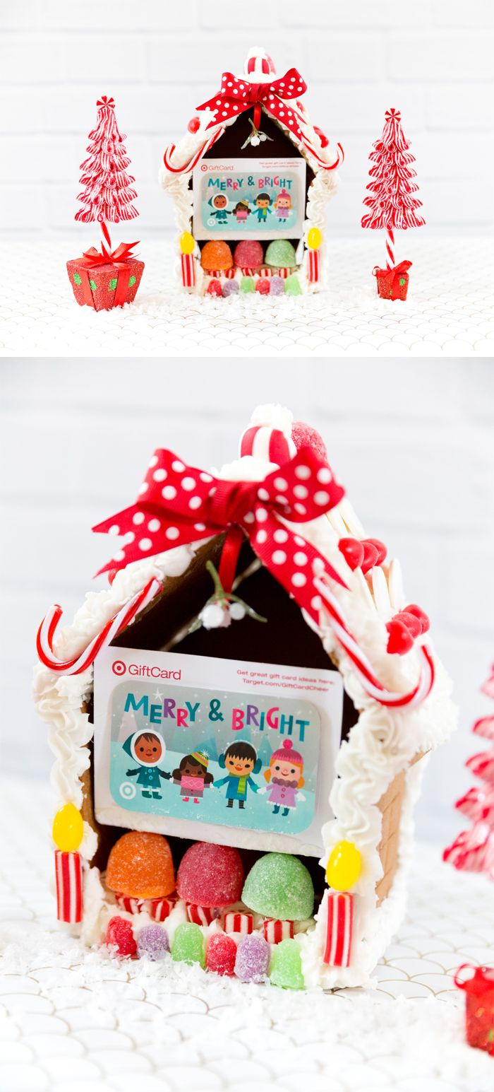 creative gift card ideas - gingerbread houses! | christmas + holiday