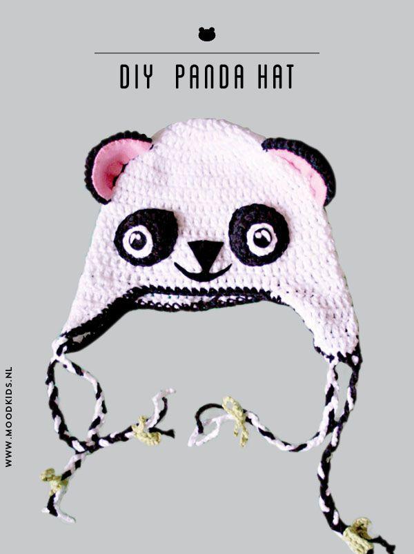 Pandamuts patroon | Crochet | Pinterest | Crochet, Crochet hats and DIY