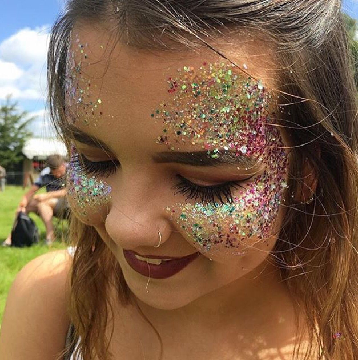festival glitter makeup in 2019