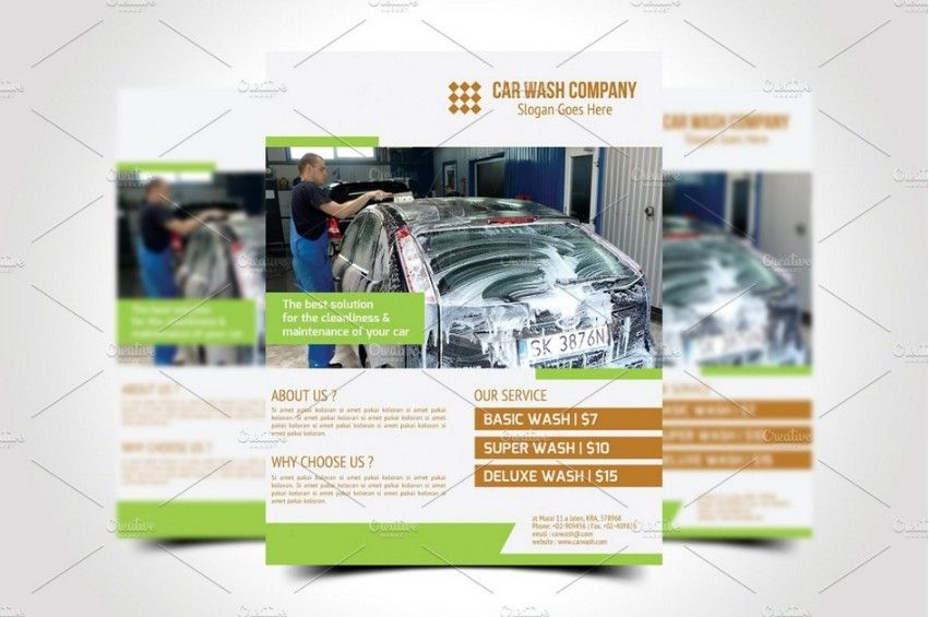 20+ Car Wash Flyer Template PSD for Company Branding 20+ Car - car wash flyer template