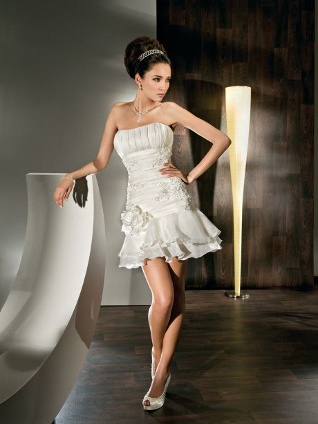 Short Skirt Wedding Dress - Ocodea.com