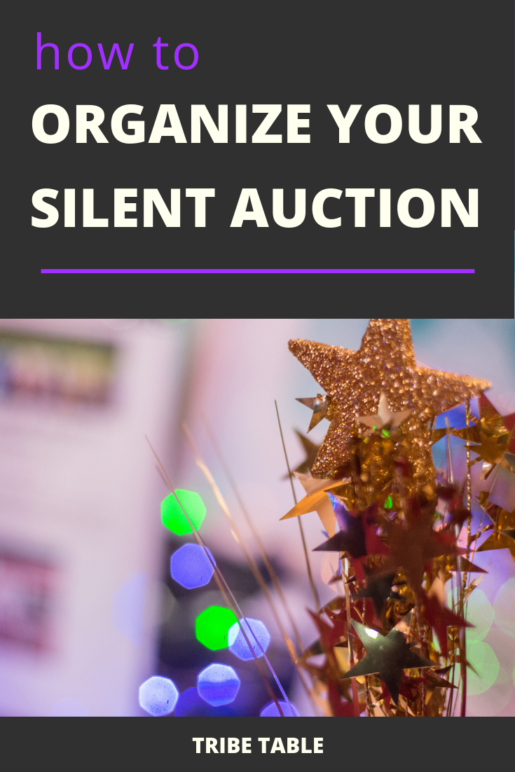 how to organize a silent auction event