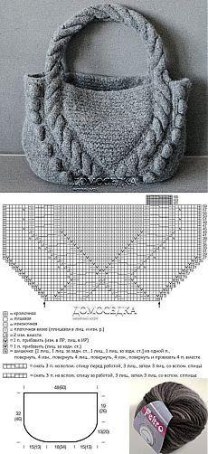 74dfe34b3f0d Вязаные сумки. | узоры, схемы, описания | Knitted bags, Crochet ...