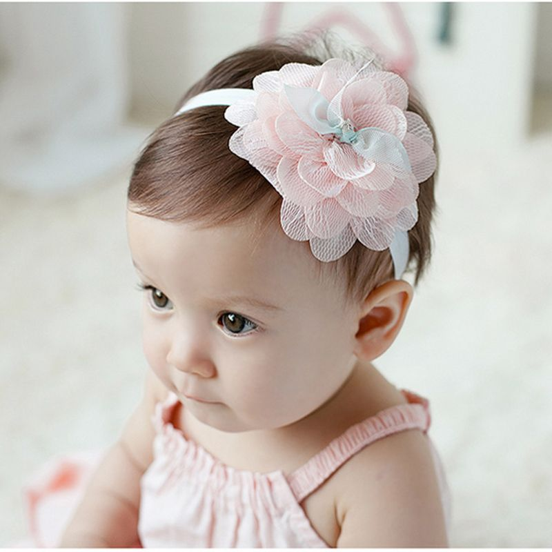 Kid Girl Baby Toddler Cute Elastic Headband Flower Infant Hair Band Headwear