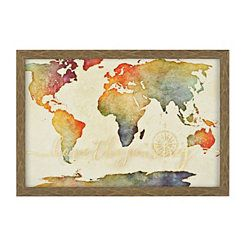 Golden rainbow world map framed art print homeroom ideas golden rainbow world map framed art print gumiabroncs Choice Image