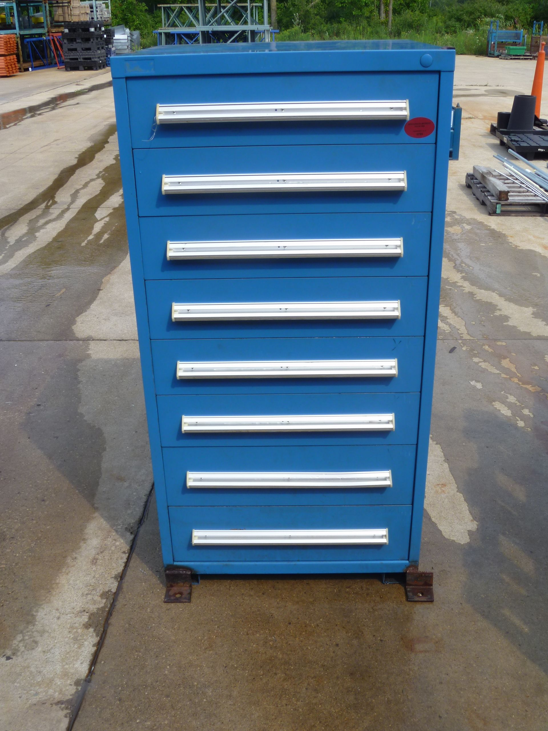 Stanley Vidmar style 8 drawer tool storage cabinet as shown 30W x