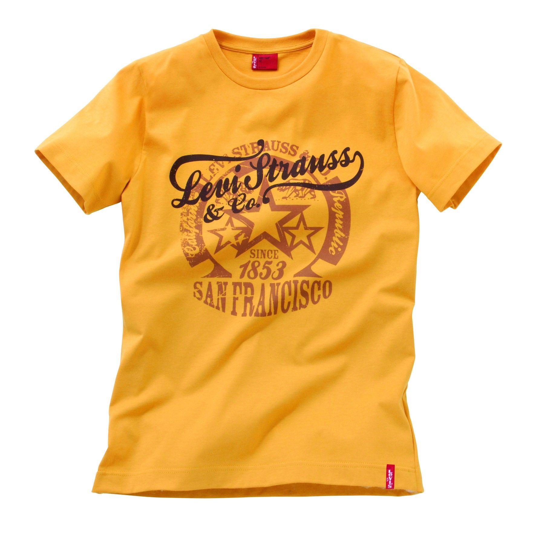 Camiseta Levi's Kidswear Tee Shirt Levi's® Amarilla CeBrWodx