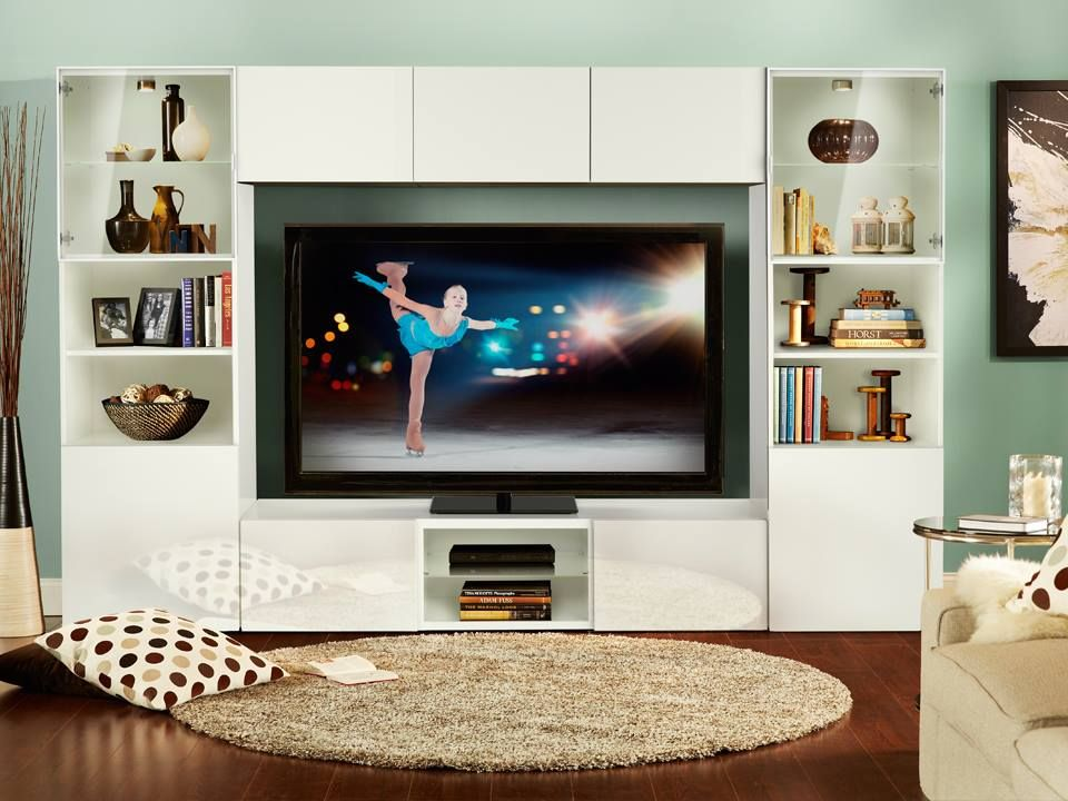 Living Room Storage Units Toddler Furniture Watch The Winter Games On A Custom Ikea Tv Unit Fit For Your And All Things You Want Display